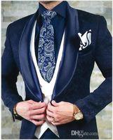 Classic Embossing tuxedos groom wedding men suits mens wedding suits tuxedo costumes de smoking pour hommes men(Jacket+Pants+Tie+Vest) 139