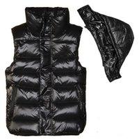 kış için yelek toptan satış-Yüksek kaliteli Fransız Yeni Tasarımcı Erkekler ve kadınlar kış aşağı yelek Klasik tüy weskit ceketler bayan casual yelekler coat