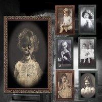 рамки для фото оптовых-3D Ghost Picture Frame Хэллоуин Украшения Ужасы Поставки Ремесел Девичник Декор Halloween Theme Party Реквизит