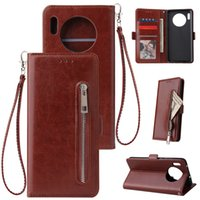 huawei мат кошелек оптовых-Для Huawei Mate 20 30 Pro Lite Zipper Wallet Флип кожаный чехол для Huawei P20 P30 Pro Lite Nova 4e телефон дела
