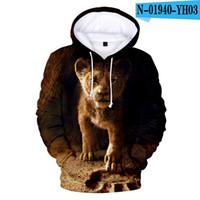 лев король толстовки толстовка оптовых-Горячие продажи 3D Король Лев Толстовки Мужчины / женщины высокого качества Hoodie 3D Printed The Lion King Толстовка Kids Street Wear Стиль