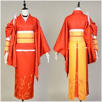xs köpek halloween kılık toptan satış-Bungo Sokak Köpekleri cosplay Kyouka Izumi Cosplay Kimono seti takım Kostüm Japon Anime Cadılar Bayramı Karnaval için yetişkin Tam Setleri