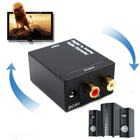 Wholesale optical coaxial digital audio converter resale online - Optical Coaxial Toslink Digital to Analog Audio Converter Adapter RCA L R mm