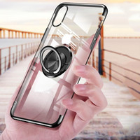 Wholesale electroplate mobile phone case for sale – best For iPhone X XS Max XR Plus Mobile Phone TPU Case Electroplated Protective Cover with Magnetic Bracket Ring