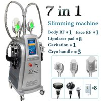 Wholesale rf lipo machine resale online - Multifunctional cryolipolysis fat freeze slimming cryotherapy weight loss fat freezing machine home device cavitation lipo laser rf