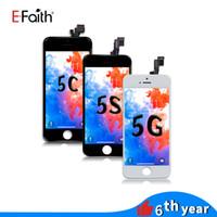 ingrosso trasporto libero dhl 5c-Vetro Tianma di alta qualità per iPhone 5 5G 5C 5S Display LCD bianco nero con digitalizzatore touch screen Spedizione gratuita DHL