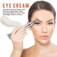 ingrosso massaggiatore di occhi vibranti-Fast Ship 2 in 1 Eye Massager Eye Cream Vibrazioni elettriche Sottile Face Magic Stick Anti-Rimozione Pouch Wrinkle Dark Circles Rimozione