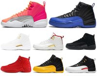 Wholesale wings boy for sale - Group buy 12 s Men Basketball Shoes HOT PUNCH FIBA top Retro Game Royal Taxi Playoffs The Master Wings Mens Trainers Sports Sneaker SIZE