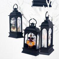ingrosso luce lanterna d'epoca-Halloween Vintage Castello zucca Strega fantasma Luce Lantern Festival partito del LED lampada a sospensione accessori per la casa decorazione del partito