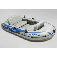 gummiboot pvc großhandel-INTEX 68319 Dreipersonen-Schlauchboot-Gummi-Ruderboot-Verdickung mit Ruderpumpen erhöht