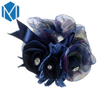 Wholesale china ladies satin for sale – plus size MISM Lady Satin Elastic Hair Bands Elegant Lace Flowers Gum For Hair Rope With Crystal Fine Ribbon Bow Hair Ornament Accessories D19011502