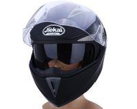 abs bisiklet kaskları toptan satış-Yeni Motosiklet Kask Tam Yüz Çift Visor Sokak Bisiklet ile Şeffaf Kalkan ile ABS Malzeme ile Sıcak Basınç Sünger ile LinerFree Nakliye