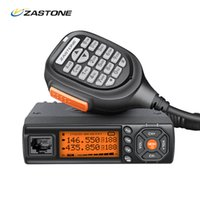 uhf transceptor móvel venda por atacado-Mini Mobile Zastone Walkie Talkie VHF UHF Mini HF Transceiver Two Way CB Ham para a caça Estação de Rádio Antena