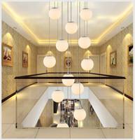Wholesale spiral staircase resale online - led decoration lighting fixture glass pendant lamp led staircase lighting spiral pendant light fixture lamp round pendant lamps