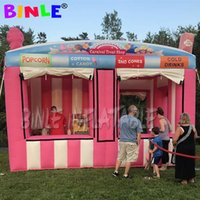 Wholesale inflatable rentals for sale - Group buy Advertising portable m inflatable carnival treat shop with multiple sales windows concession booth stand stall station rentals