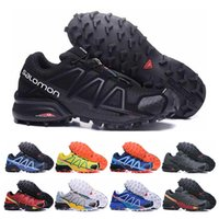Wholesale table crosses for sale - Group buy New Salomon Speed Cross IV CS Running Shoes black blue orange red Outdoor Breathable Men Athletics Mesh Fencing Shoes sneakers