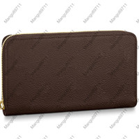 Wholesale cream leather purses resale online - ZIPPY WALLET VERTICAL Fashion Carry Around Money Cards and Coins Men Leather Purse Fashion Card Holder Long Business Color