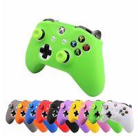 neue xbox controller stöcke großhandel-NEU 18 Farben für XBox One Controller Silikonhülle + Analoge Daumenstick-Griffkappe für XBox One 1 X S Joystick