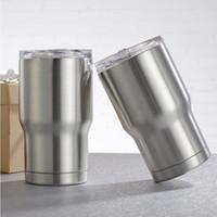 ingrosso tazze per bambini-14 oz bambini bicchiere caffè tazza di latte 304 in acciaio inox a doppia parete vuoto isolato tazze tazze di birra bicchieri con coperchi bambino tazza