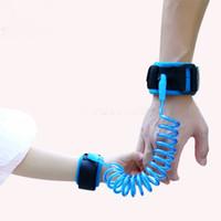 ingrosso braccialetti per bambini persi-bambino polso guinzaglio di bambino del bambino per bambini regolabili cavo di sicurezza bambini Banda Anti perso link trazione braccialetti di sicurezza a fune bambino