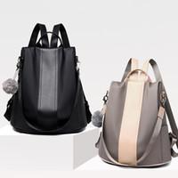 okul çantası çantası toptan satış-Su geçirmez Rahat Kadın Sırt Çantası Çanta Anti-hırsızlık Sırt Çantası Mochila Feminina Gençler Kızlar Için Hafif Okul Omuz Çantası J190620