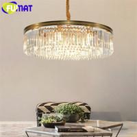 24 araña de burbujas de cristal al por mayor-FUMAT Modern Bubble Glass Colgante Araña de iluminación de la bola de cristal Hanglamp LED Colgantes europeos Lustre lámparas