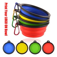 Wholesale collapsible water bowls for dogs resale online - Pet Soft Dog Bowl PC Folding Silicone Travel Bowl For Cat Dog Portable Collapsible Folding Dog Bowl for Pet Cat Food Water Feeding