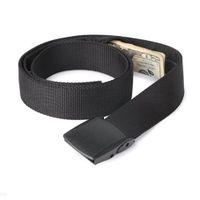hot mulheres cintura bolsa venda por atacado-Hot Money Belt Dinheiro Secreto Escondido Cash Travel Discreet Seguro Magro Anti-Roubo Cintura Negra Bolsa Homens Mulheres cinto