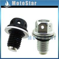 M12 x 1.25 Aluminum Alloy Magnetic Engine Oil Pan Drain Bolt Screw for Car CA