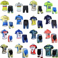 Wholesale jersey cycling saxo green for sale - SAXO BANK TINKOFF team Cycling Short Sleeves jersey shorts sets Breathable Bike Clothing Quick Dry Bicycle Sportwear Ropa Ciclismo F