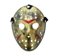 Wholesale horror scary movies masks resale online - Masquerade Masks For Adults Jason Voorhees Skull Mask Paintball th Horror Movie Mask Scary Halloween Costume Cosplay Festival Party Mask