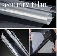 transparentes vinyl großhandel-Sicherheitsfolie Sicherheit transparent klarer Schutz Vinyl für Fensterglas schützen Größe 1.52x30m Rolle (5x100ft)