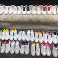 dans spor ayakkabıları erkekler toptan satış-Eğlence Ayakkabı Yeni Bahar Stil 2019 Deri Tasarımcısı Beyaz Ayakkabı Strapped erkek ve kadın sneakers Jimnastik dans sürüş düz ayakkabı 41