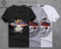 ingrosso estate degli uomini di stile coreano di modo-Estate maschile stile manica corta Moda Trend edizione coreana magliette sottili per gli uomini mezza t-shirt vestiti magliette marche