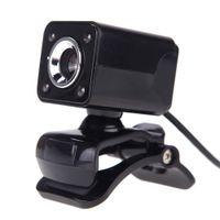 ccd kamera 12 großhandel-HD Webcam 12 Mega 4 Leds Nachtsicht CMOS USB Web Kamera Digital Video Eingebautes Mikrofon 360 Grad Rotaion Clip-on