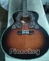 jumbo akustikgitarre groihandel-Großhandel Deluxe Vintage Sunburst Farbe 43 Zoll Jumbo Akustikgitarre