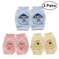 детские коляски оптовых-3 пары младенца ползать наколенники дышащий многофункциональный колено скобка наколенники протектор колена для детей
