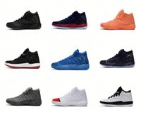 baskets carmelo achat en gros de-Hommes nouvelles chaussures de basket MELO M13 GYM-RED BLUE noir haute qualité baskets Melo M13 Carmelo Anthony 13 XIII 40-46