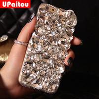 elmas kristal arka kapak toptan satış-Toptan DIY 3D Lüks Bling Kristal Rhinestone Case Arka Samsung Galaxy için S8 S5 S6 S7 Kenar Artı Not 4 5 Elmas Kılıf Kapak