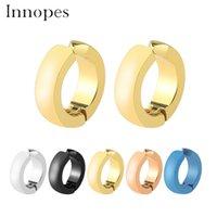 pendiente unisex coreano al por mayor-Innopes Moda coreana de moda Unisex clip de oro en el pendiente sin perforar joyas de acero inoxidable pendientes redondos