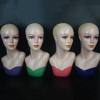 melhores cabeças de manequim venda por atacado-perucas moldes cabeça Best Selling Mannequin Heads ornamentos Falso lenço exibição chapéu peruca adereços molde cabeça falsa