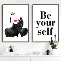 Fashion y Woman Quotes Wall Art Canvas Painting Art Nordic Posters And Prints Wall For Living Room Salon Decor