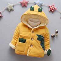 abrigo largo de invierno para niñas al por mayor-BibiCola 2018 Winter new girls tops abrigo niñas con capucha ropa de nieve niños manga larga ropa de abrigo