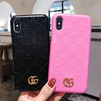 Wholesale iphone logo hard resale online - Metal letter logo For iPhone XS MAX XR X mobile phone case embossed letter brand design for iPhone plus plus plus PC hard shell