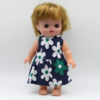 bebek elbisesi diy toptan satış-18 Inç Bebek Giysileri Moda Rahat Bebek Kız Bebek Giyim Seti Diy Bebek Elbise Mayo Pantolon Kıyafetler Tops