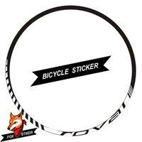 mtb jantlar toptan satış-26er 27.5er 29er Jant Tekerlek Sticker Döngüsü Yansıtıcı MTB Dağ Bisikleti Jantlar Çıkartması için R0VAL MTB Çıkartmalar