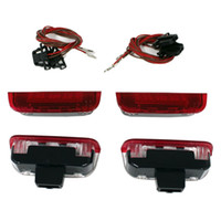 Wholesale vw golf mk6 led resale online - 4 Error Free LED Door Warning Light with Cable AD For VW Golf Jetta MK5 MK6 CC Tiguan Passat B6 AD