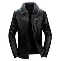 Wholesale korean fur hat men resale online - Autumn And Winter Men Fur Korean style PU Leather MEN S Jacket Middle aged Outdoor Casual Leather Jacket MEN S Top
