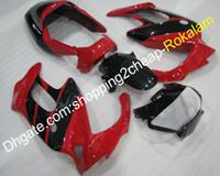 1997 honda vtr carenado al por mayor-Para el kit de carenados de Honda VTR1000F VTR1000 VTR 1000 F 1997 1998 1999 2000 2001 2002 2004 2004 2005 2005 VTR 1000F Negro Rojo Carenado conjunto