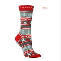 ingrosso calze di lusso di natale-Nuovo lusso di Natale dei cervi Moose Designer calze di modo caldo del Knit di inverno di lana dei calzini delle donne degli uomini di Natale che copre trasporto libero